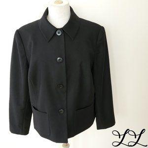 Chadwick's Blazer Jacket Black Wool Pockets Work